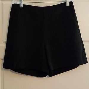 Ann Taylor black side zip dress shorts